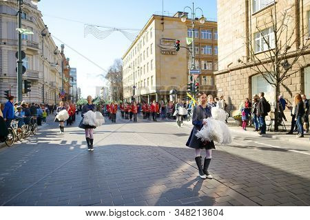 Vilnius, Lithuania - April 11, 2015: People Participating In Physicists Day (fidi), A Humorous Event