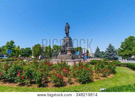 Sevastopol, Crimea - July 3, 2019. Monument To Admiral Nakhimov, Hero Of Crimean War. Artist General