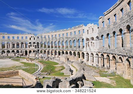 The Pula Arena Is The Name Of The Amphitheatre Located In Pula, Croatia.