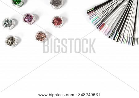 Tips And Sparkles On White Background
