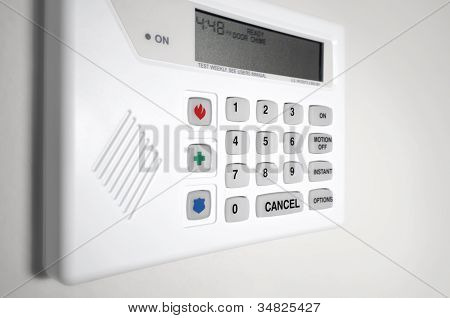 Home security alarm monitor