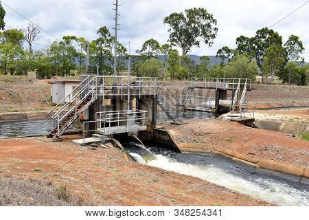 A Major Control Junction For The Water Supply Across A Weir For Irrigation In The Atherton Tableland
