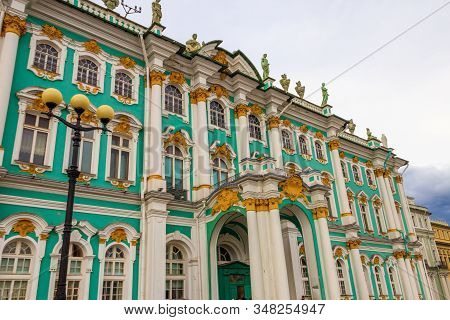 Winter Palace In St. Petersburg, Russia. Winter Palace Was The Official Residence Of The Russian Emp