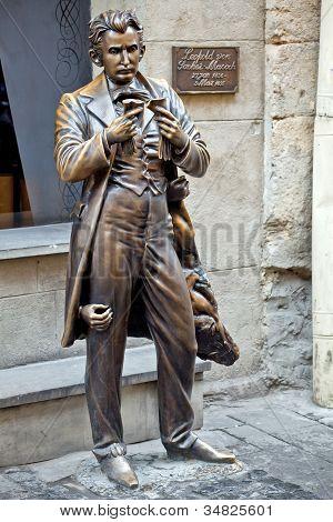 The Monument Of Leopold Von Sacher-masoch In Lviv