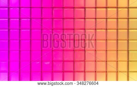 Nice Square Texture Of Very Colors Of The Rainbow.