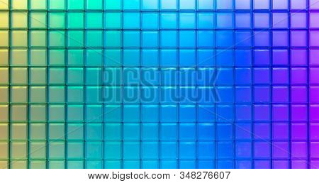Nice Square Texture Of Very Colors Of Blue.