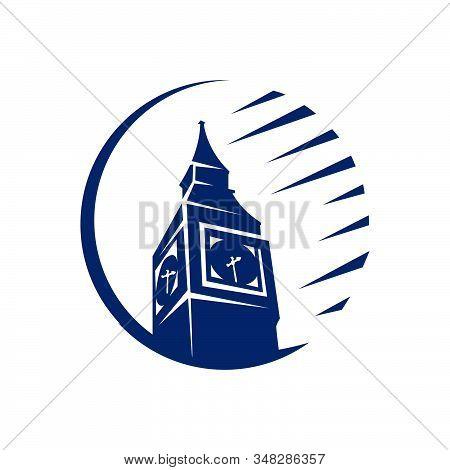 Custom Creative Tower Of London Big Ben Logo Design Vector Symbol Illustration