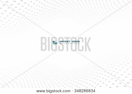 Abstract White Background With Gray Dot Pattern Technology Design Decorative Background. Decorate Fo