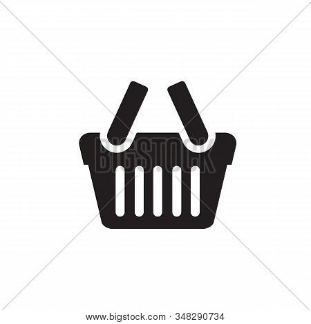 Shopping Basket Icon. Shopping Basket Vector, Shopping Basket Logo, Web Icons, Trolley Icon, Shoppin