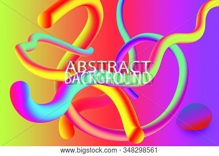 Modern Abstract Background Colorful Organic Form With Gradient. Fluid Shapes Composition With Plasti