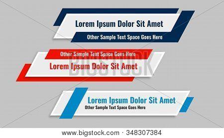 Modern Geometric Lower Third Banners Set Design