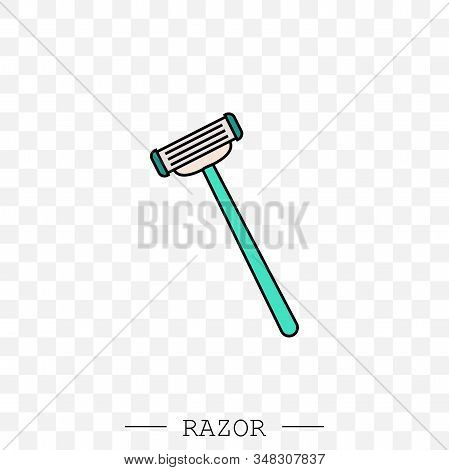 Razor Vector Icon. Shaving Men Razor Icon. Simple Illustration Of Man Razor Vector Icon For Web Desi