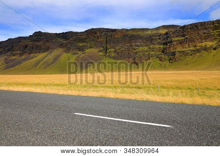 Route 1 or Ring Road (Hringvegur), the national road that runs around the island and connects popular tourist attractions in Iceland, Europe