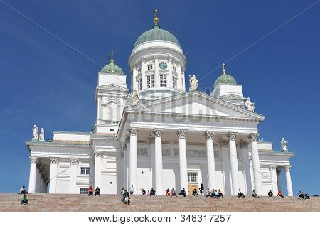 Helsinki Cathedral, Evangelical Lutheran Church Of The Diocese Of Helsinki. Finland.