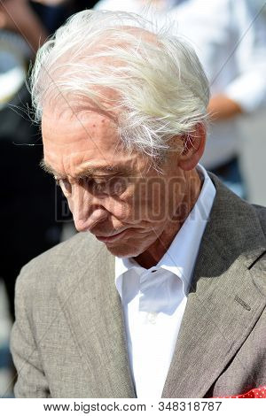 Warsaw, Poland. 9 July 2018. Charlie Watts, Musician Of The Legendary Rolling Stones Team During A M