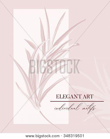 Wedding Rose Palm Tender Soft Invitation, Floral Invite Thank You, Rsvp Modern Card, Poster Design: