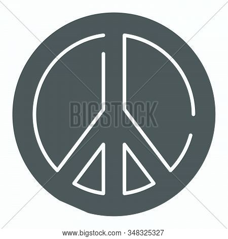 Pacifism Solid Icon. Peace Symbol Vector Illustration Isolated On White. Sign Pacifist Glyph Style D