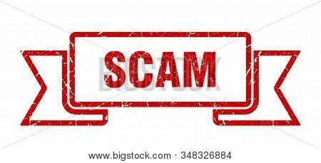 Scam Grunge Ribbon. Scam Sign. Scam Banner