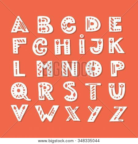 Unique Latin Alphabet Letters Isolated On Background