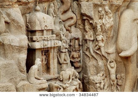 Arjuna's Penance In Mahabalipuram