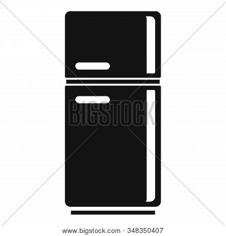 Food Fridge Icon. Simple Illustration Of Food Fridge Vector Icon For Web Design Isolated On White Ba