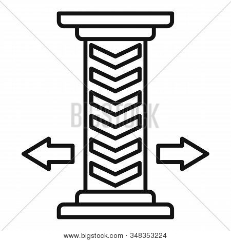 Underground Parking Pillar Icon. Outline Underground Parking Pillar Vector Icon For Web Design Isola