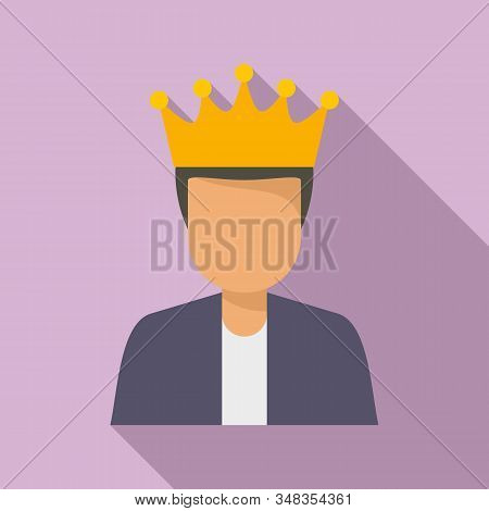 King Loyalty Program Icon. Flat Illustration Of King Loyalty Program Vector Icon For Web Design