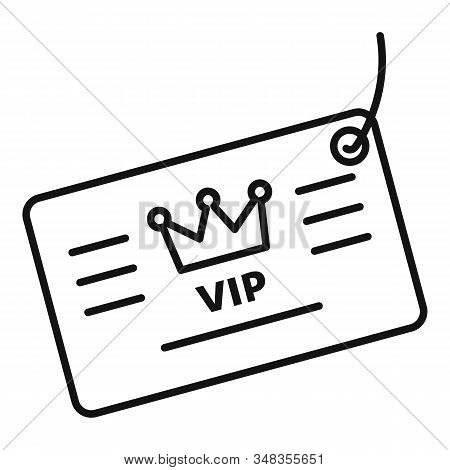 Vip Loyalty Card Icon. Outline Vip Loyalty Card Vector Icon For Web Design Isolated On White Backgro