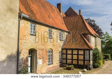 Schleswig, Germany - June 25, 2019: Johannis Monastery In Holm Fishing Village Of Schleswig, Germany