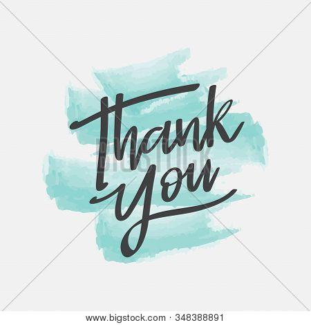 Thank You Handwritten, Thank You Calligraphy Sign, Thank You Card Vector Illustration, Thank You Gre