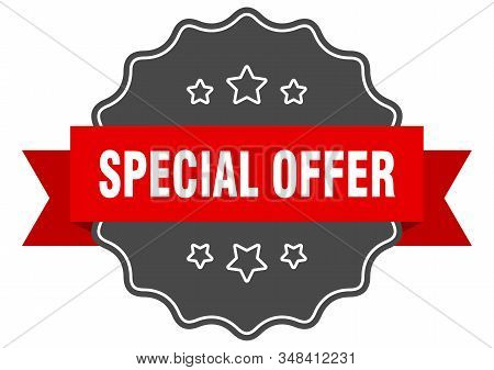 Special Offer Red Label. Special Offer Isolated Seal. Special Offer