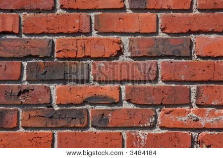 Old Brick And Mortar Wall