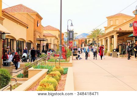January 15, 2020 In Cabazon, Ca:  People Shopping To Find Bargains At Designer Stores Taken At The P