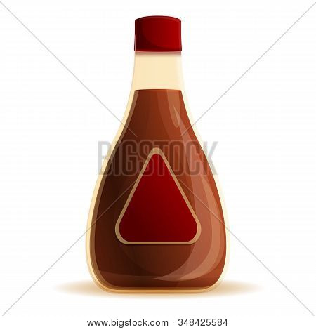 Pepper Sauce Bottle Icon. Cartoon Of Pepper Sauce Bottle Vector Icon For Web Design Isolated On Whit