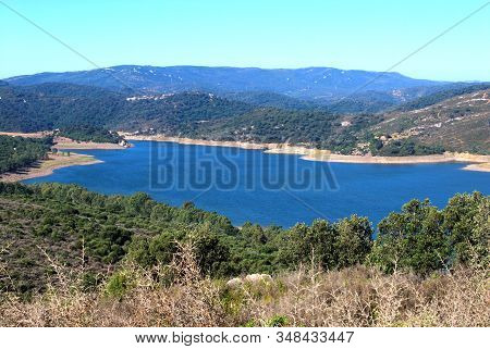 View Across The Lake And Surrounding Countryside (embalse De Guadarranque), Castellar De La Frontera