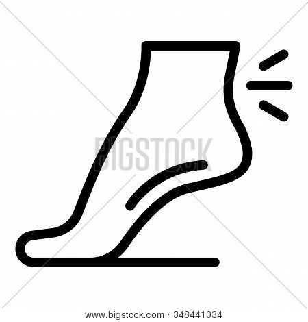 Joint Pain Legs Icon. Outline Joint Pain Legs Vector Icon For Web Design Isolated On White Backgroun
