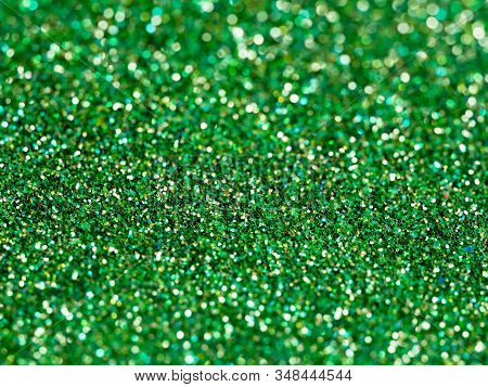 Bright Green Glitter Abstract Background. Merry Christmas Backdrop.