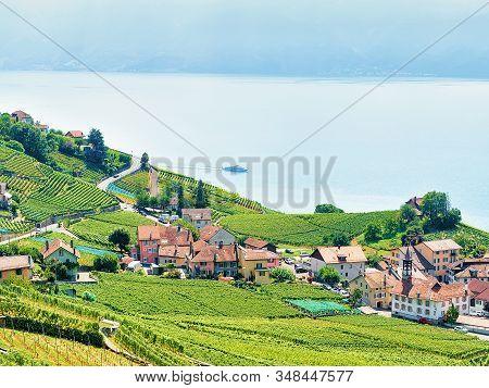 Lavaux Vineyard Terrace Hiking Route In Swiss