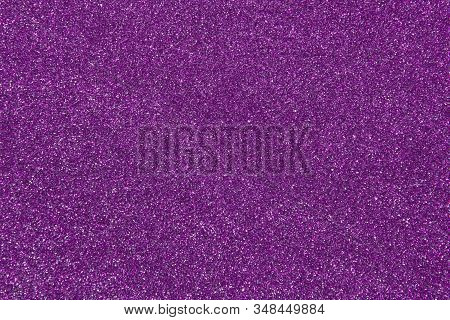 Blurred Abstract Shiny Purple Background. Glitter Violet Texture With Copy Space.