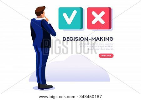 Person Choosing And Agree The Yes Select Option, Ok Decision To Confirm Choice For A Solution. Posit