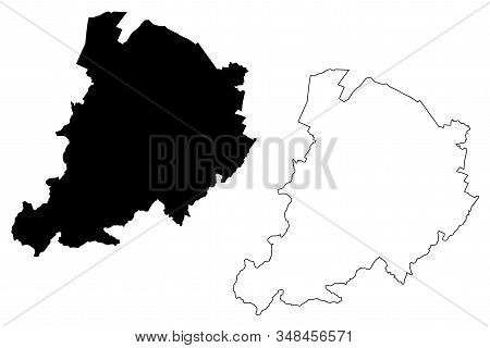 Metropolitan City Of Bologna (italian Republic, Italy, Emilia-romagna) Map Vector Illustration, Scri