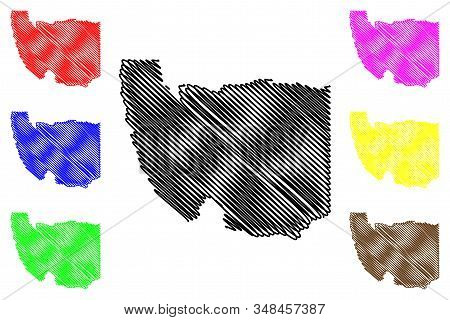 Karas Region (regions Of Namibia, Republic Of Namibia) Map Vector Illustration, Scribble Sketch Kara