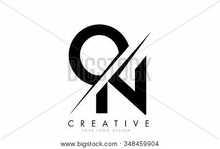 On O N Letter Logo Design With A Creative Cut. Creative Logo Design..