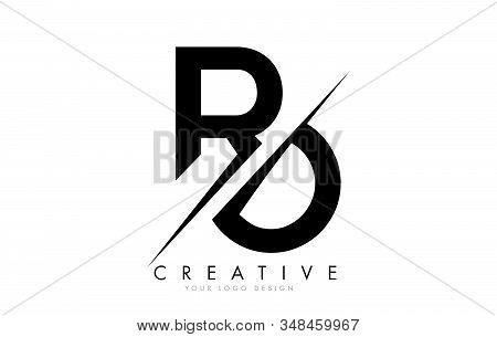 Ro R O Letter Logo Design With A Creative Cut. Creative Logo Design.