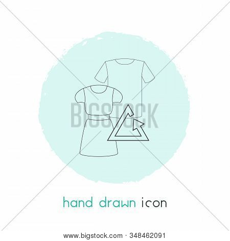 Reuse Clothes Icon Line Element. Illustration Of Reuse Clothes Icon Line Isolated On Clean Backgroun