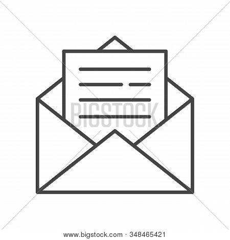 Mail Icon Line Style. Message Symbol, Email Correspondence