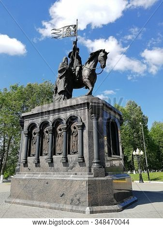 July 2019, Russia, Vladimir. View Of The Monument To Prince Vladimir And Saint Fyodor, Installed On