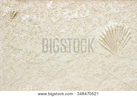 Texture Background Abstract Of Plastered Wall. Copy Space. Can Be Use As Wall Paper Screen Saver Cov