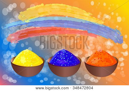 Colorful Promotional Background For Colors Festival Of Holi Celebration. Indian Festival Of Happy Ho