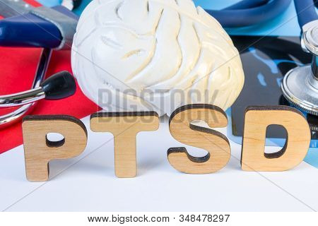 Ptsd Medical Abbreviation Or Acronym Of Post Traumatic Stress Syndrome, Mental Disorder Caused By Tr